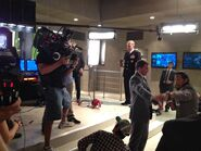 OHF- actor Shane Land on-set with Sam Medina