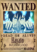 Hayato Wanted Poster