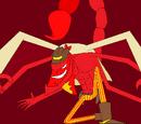 Fruta Kumo Kumo: modelo escorpión rojo