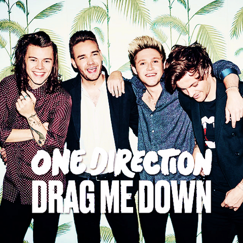 File:Drag Me Down Single Cover.png