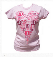 Heart Design Pink Skinny T-Shirt