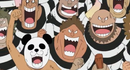 Panda man in a group of Impel Down escapees