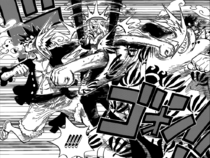 Jinbe and Luffy Hit Sanji