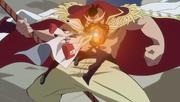 Sakazuki Attacks Whitebeard