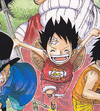 Luffy as a Child In The Manga