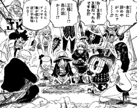 Straw Hat Pirates and Allies Read Newspaper