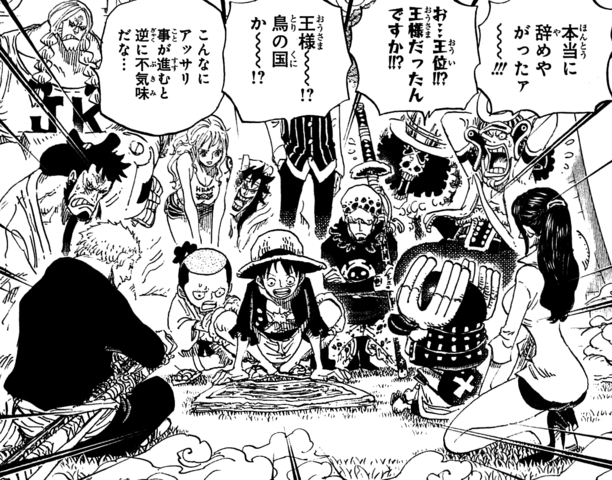 File:Straw Hat Pirates and Allies Read Newspaper.png