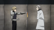 Genos asking man