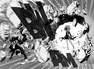 Tatsumaki breaks wall
