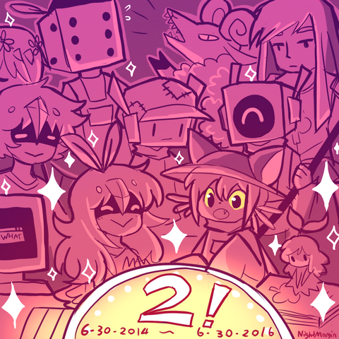 File:Oneshot turns 2 by nightmargin-da8t4tp.png