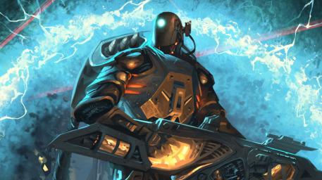 R169 457x256 21086 Gs erebos adv 2d sci fi robot soldier picture image digital art