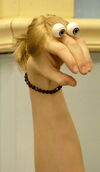 Oobi Paula Noggin Nick Jr TV Series Show Hand Puppet Character