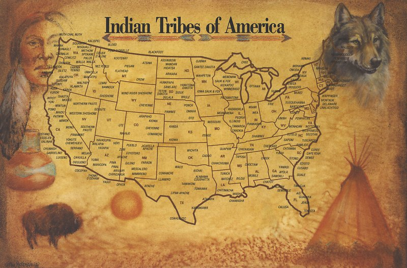 US Map Of The Native American Tribes Maps Of Native American - Map of us tribes
