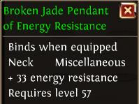 Broken jade pendant of energy resistance