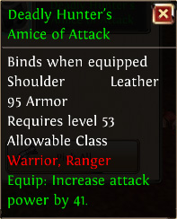 Deadly hunters amice of attack