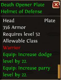Death opener plate helmet of defense