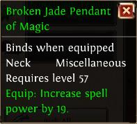 Broken jade pendant of magic