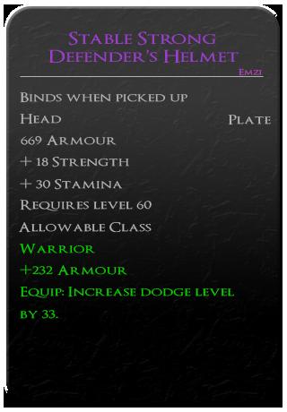 Stable Strong Defender's Helmet