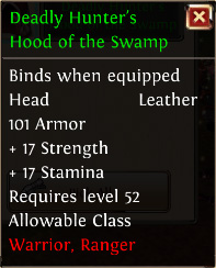 Deadly hunters hood of the swamp