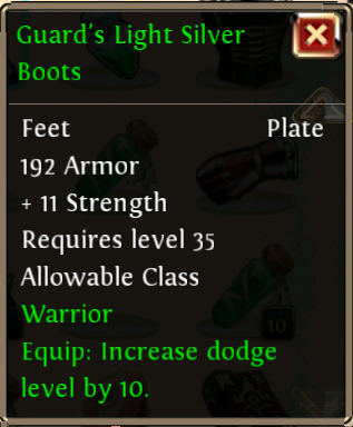 Guards Light Silver Boots