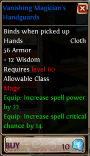 Vanishing Magician's Handguards