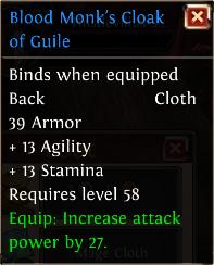 Blood monks cloak of guile