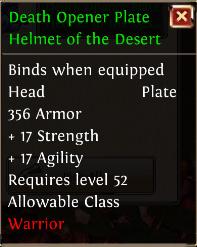 Death opener plate helmet of the desert