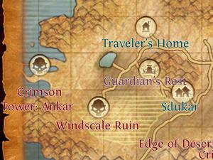 Crimson Tower Ankar map