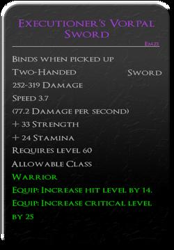 Executioner's Vorpal Sword
