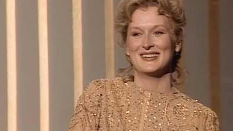 "Meryl Streep winning an Oscar® for ""Sophie's Choice"""