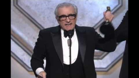 "Martin Scorsese winning an Oscar® for ""The Departed"""