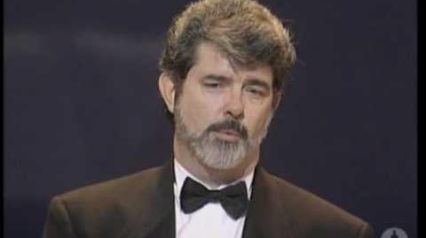 George Lucas receiving the Irving G. Thalberg Memorial Award