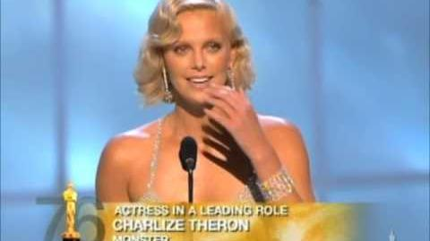 "Charlize Theron winning Best Actress for ""Monster"""