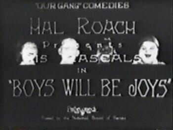 Boys Will Be Joys tc