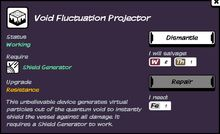 Void fluctuation projector