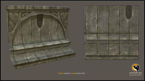 Ancient Stone Wall 3d Model