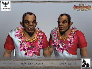 African Citizen CG Model