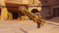 Pharah amethyst golden rocketlauncher
