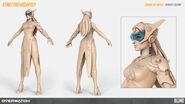 Symettra high-poly turnaround (By Renaud Galand)