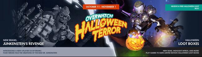 Halloween terror banner