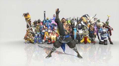 Overwatch - Anniversary Hanzo emote - Fisherman Dance