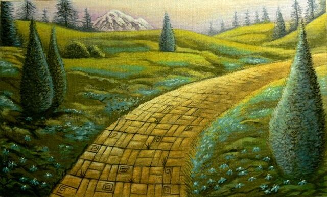 File:Yellow brick road green meadow by leebea1.jpg