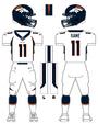 Broncos white uniform