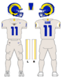 Rams white uniform