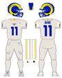 Rams white uniform