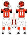 Cincinnati Bengals alternate uniform