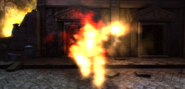 Fire spectre attacking