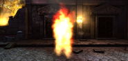Fire spectre with closed arms