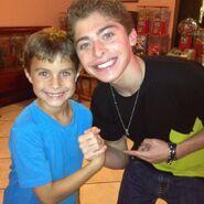 Ryan Ochoa with a fan
