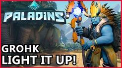 Paladins - Grohk Gameplay - Light It Up! Grohk Guide